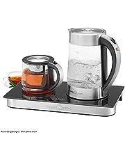 ProfiCook PC-TKS 1056, 3-i-1 vattenkokare, te- och kaffestation i ett rostfritt stål, sensorstyrning, automatisk och manuell temperaturinställning, rostfritt stål/svart