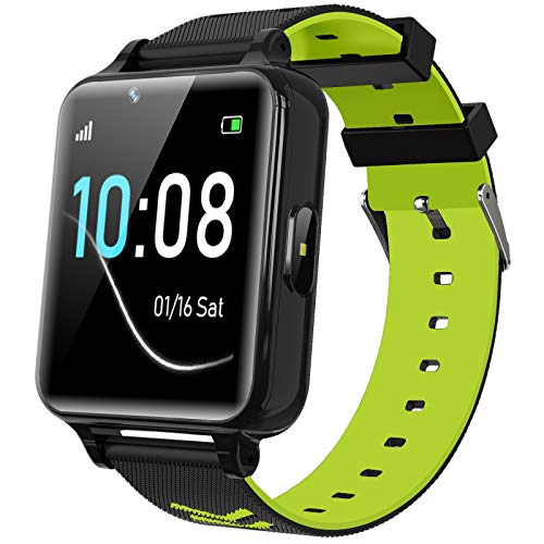Kids Smartwatch for Boys Girls - Kids Smart Watch Phone Touch Screen with Calls Games Alarm Music Player Camera SOS Calculator Calendar Children Toys Birthday Gifts for 4-12 Years Students (Green)