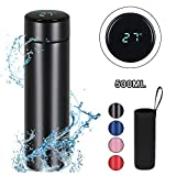 flintronic Travel Mugs, Insulated Water Bottle, 500ml LED Temperature Display Smart Water Cup, Stainless Steel Vacuum Drink Flasks, Hot&Cold Sport Drink Bottle for Cycling, Gym, Home, Office