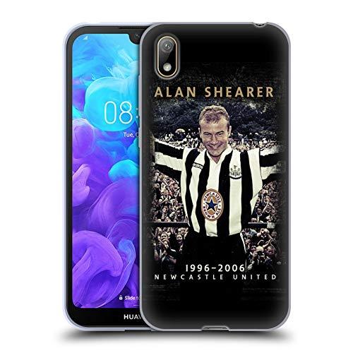 Head Case Designs Officiellt Licensierade Newcastle United FC NUFC Alan Shearer Retro Badge Kollektion Mjuk Gel Fodral Kompatibelt med Huawei Y5 (2019)