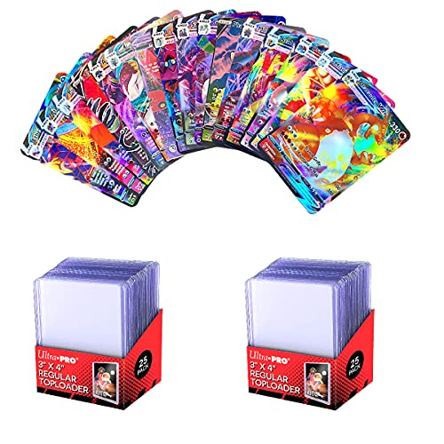 pokémon français cartes de collection de jeux (50 pcs)+Ultra Pro Toploader Protèges cartes Transparent(50 pcs)