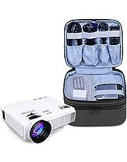 Luxja Torba projektora do mini projektora, torba do przenoszenia projektora kompatybilna z APEMAN, ELEPHAS, QKK, DR.Q i innymi mini projektorem i akcesoriami, 23 cm x 19 cm x 10 cm, czarna
