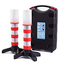 1, VISIBLE UP TO 3000 FEET AT NIGHT,UP TO 1000 FEET IN DAYLIGHT.Reduce the risk of accidents from roadside breakdown,warning oncoming traffic,especially in the rain or snow bad weather. 2, A MUST HAVE FOR EACH CAR, TRUCK, MOTORCYCLE,BOAT AND MORE.The...