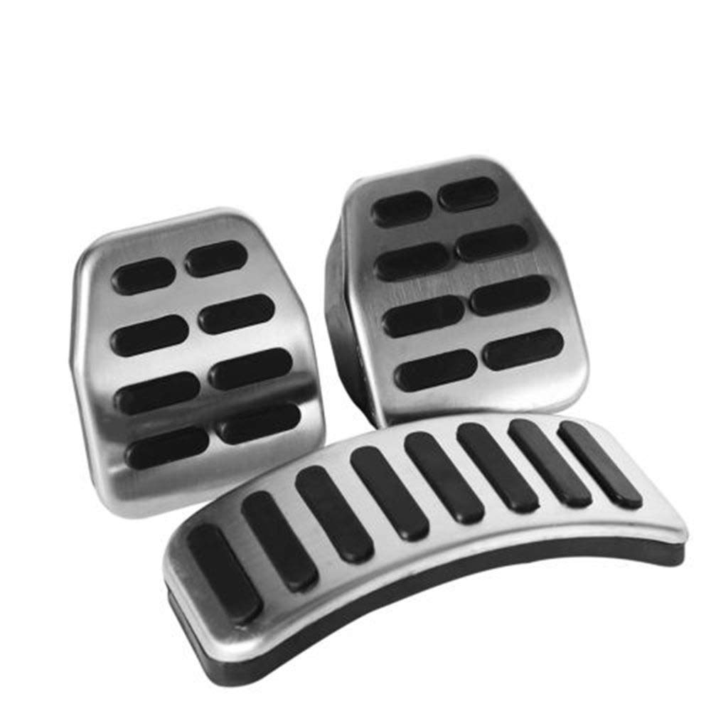 Lecimo Silver-Car-Pedal-Cover-Set-MT-for-VW-Beetle-Bora-Golf-Polo ...