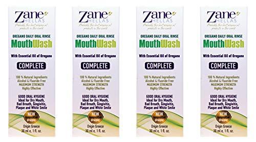 Zane Hellas MouthWash. Enjuague bucal con aceite de orégano.Ideal para la gingivitis, la placa, la boca seca y el mal aliento.Libre de alcohol y flúor.100% Herbal.Compre 3 +1 libre