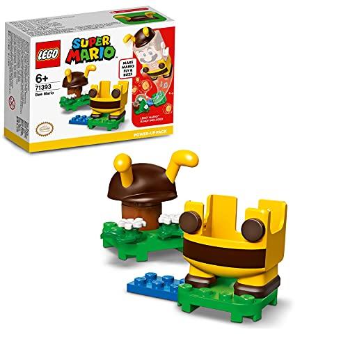 LEGO 71393 Super Mario Pack Potenciador: Mario Abeja, Disfraz para Super Mario de Juguete, para Niños a Partir de 6 años