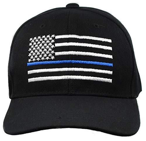 Topt mili Casquette Drapeau us USA Moto Motard Biker Blue Line Pompier Police