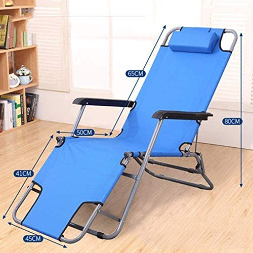 OESFL Chair Sun Lounger Leisure with Pillows Reclining Garden Patio Lounger Folding Outdoor Zero Gravity Recliners Lawn Camping Portable with Neck Pillow (Color : D)