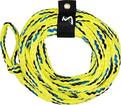 MESLE Schlepp-Leine 6P 60' für Wassersport Tubes und Schleppreifen, mit Schwimmer, Zug-Seil für 6 Personen Towable, Länge 18,3 m