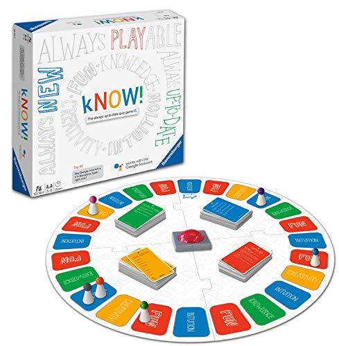 Ravensburger 26071 Know wusste es Interaktives Brettspiel für Kinder & Erwachsene Alter ab 10 Jahren-Das Always-up-to-date Quiz-Spiel Powered by The Google Assistant
