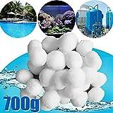 Limpiador de piscinas Filtrar blanco bolas ecológico filtro de la piscina Equipo de Limpieza de purificación de agua bolas de fibra de algodón 200/500 / 700g (Color : 700g)