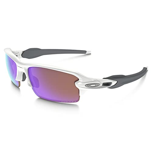 3d621b79ae Oakley Mens Flak 2.0 Sunglasses White Prizm Golf