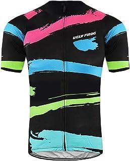April days Uglyfrog Completo Maglia Ciclismo per Uomo alla Moda Maniche Corte Estive+Pantaloncini Corti Ciclismo MTB Traspirazione Jerseys