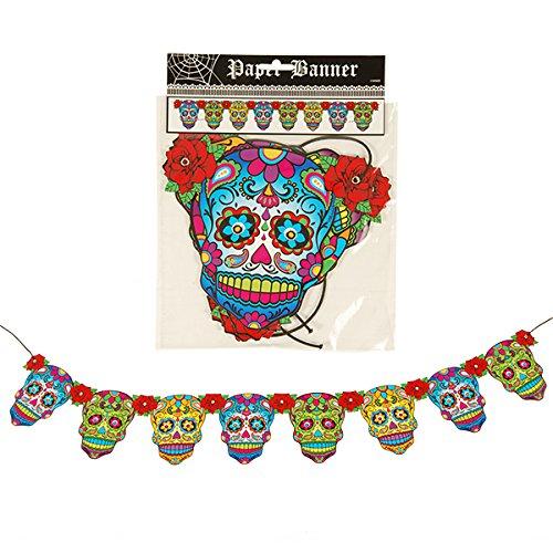 DAY OF THE DEAD Banner–Halloween Dekoration–Dios De La Muerte–Sugar Skull