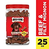 Milk-Bone Soft & Chewy Beef & Filet Mignon Recipe Dog Snacks, 25 ounces