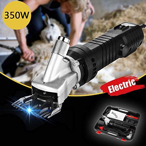GBHJJ 350W Professionelle Elektrische Schafschermaschine mit 6 Geschwindigkeiten, für Ziegen, Alpakas, Lamas, Dicke MäNtel Und Schwere Tiere (Schwarz)