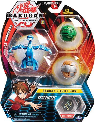 Bakugan Starter Pack mit 3 Bakugan (Ultra Aquos Serpenteze, Basic Aurelius Hydorous, Basic Ventus Pegatrix)