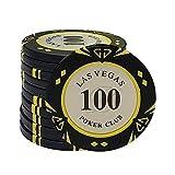 TX GIRL 5pcs / Porción De Arcilla Fichas De Póquer De Las Vegas Casino Fichas De Póker Texas Hold'em Viruta Dollar Poker Club Monedas (Color : 100)
