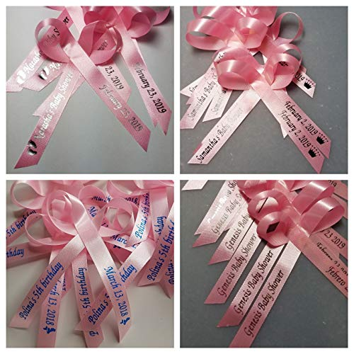 Personalized Ribbons, 25, Custom Ribbons, Bridal Shower Favor, Party Favors, Wedding Favor, Bridal Favor, Bridesmaids Gifts, Sweet 16 Party Favor, Peronalized Satin Ribbons (Light Pink Ribbon)