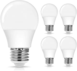Jandcase A15 LED Bulb, Dimmable Lights, 40W Equivalent, 4W, Warm White 3000k, 400LM, E26 Medium Base, Ideal Lighting for Chandelier, Ceiling Fan, Bedroom, Home/Office, 4 Pack
