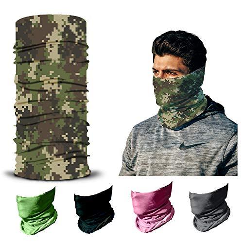 ARMORAY Face Mask Balaclava Neck Gaiter Reusable Washable Bandana Headwear Headband for Men & Women Hiking Cycling Fishing Masks (Digital CAMO)
