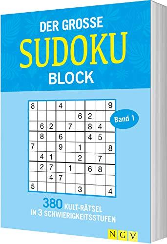 Der große Sudokublock Band 1: 380 Kulträtsel in 3 Schwierigkeitsstufen