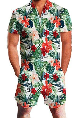 Mens Hawaiian Print Pants