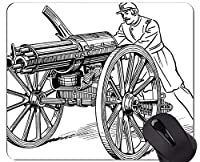 カスタマイズされるマウスパッド銃のお茶会の戦いのゴム製マウスパッド