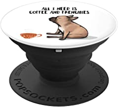 Frenchie and Coffee, French Bulldog - PopSockets Grip and Stand for Phones and Tablets