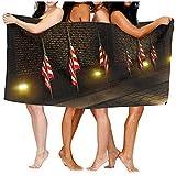 Yocmre 130 * 80cm (52x32 Pulgadas) Toalla de baño Bandera de Estados Unidos Toalla de baño de Alta absorción para Playa Hogar Baños Piscina Gimnasio