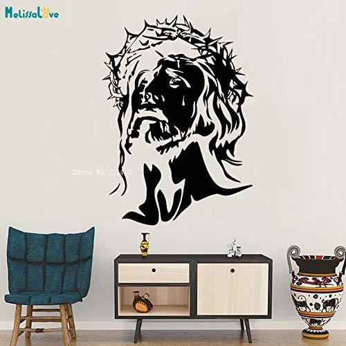 Banken Stil einfache Avatar Vinyl Wandtattoo Gott Religion christlichen Messias Kopf Aufkleber cool einzigartige Geschenk Familie Kunst Wandbild 56x78cm