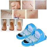 Uyuke Fußreinigungsbürste, Rutschfester Fußwäscher Peeling Fußbürste Fußmassagegerät Dusche...