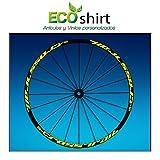 Ecoshirt KC-F525-N9JD Aufkleber Stickers Felge Rim Mavic Crosstrail Bike Am58 MTB Downhill, Gelb 29...