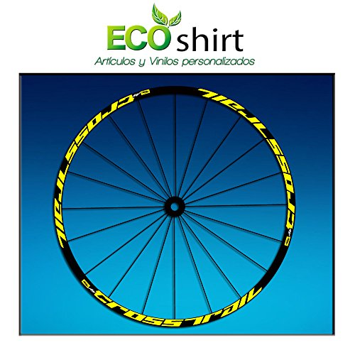 Ecoshirt KC-F525-N9JD Aufkleber Stickers Felge Rim Mavic Crosstrail Bike Am58 MTB Downhill, Gelb 29 Zoll