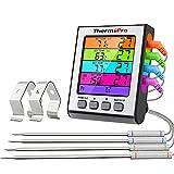 thermopro tp17h termometro cucina digitale sonda con modalità timer e display lcd per cottura bbq alimenti carne forno arrosto griglia