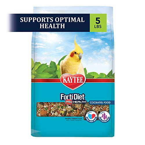 Kaytee Forti Diet Pro Health Bird Food for Cockatiel, 5-Pound