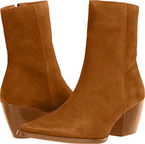 "Matisse Footwear Caty Mid-Calf Boot, Fawn, Premium Suede, 2.5"" Heel, 7"" Shaft, Medium Width, Fawn/Light Brown, 8 M"