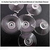 6 Pcs.Clear Suction Cups for Beltronics, Escort...
