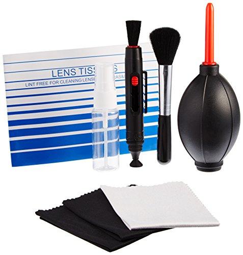 Sony SEL-18200LE Zoom-Objektiv schwarz & Amazon Basics - Reinigungsset für DSLR-Kameras und empfindliche elektronische Geräte