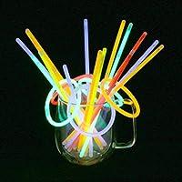 Vicloon Barras Luminosas, Pulseras Luminosas con Variedad de Conectores, Kits para Crear Gafas, Pulseras triples, una...