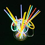 Vicloon 100 Pcs Barras Luminosas,Pulseras Fluorescentes Tubos Luminosos,Pulseras Luminosas...