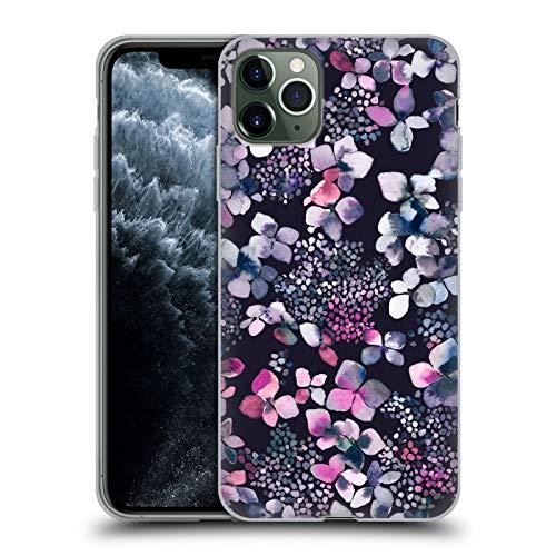 Head Case Designs Oficial Ninola Hortensias Astronómicas Floral Carcasa de Gel de Silicona Compatible con Apple iPhone 11 Pro MAX