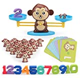 J-hong Monkey Balance Math Game for Girls & Boys | Fun, Educational Children's Gift & Kids Toys STEM Learning Ages 3+ (65-Piece Set)