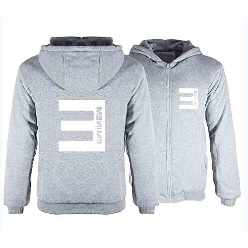 XUJIN Chaqueta Gruesa y cálida Ropa Casual de algodón para Hombres Abrigo de Invierno Suéter Envolvente de Anime Eminem S-6XL,E,4XL