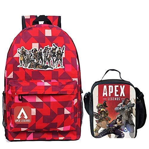 APEX Legends Luminous Backpack Boy Insulated Lunch Box School Bookbag Mini Bag for Kids