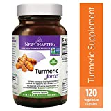 Turmeric Curcumin Supplement, New Chapter Turmeric Supplement, One Daily, Joint Pain Relief + Supercritical Organic Turmeric, Black Pepper Not Needed, Non-GMO, Gluten Free – 120 Count (4 Month Supply)