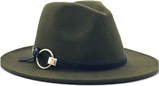 Sun Hat for men and women Men Women Fashion Fedora Hat Wool Felt Leather With Metal Ring Decorative Hat Jazz Church Godfather Felt Hat Wide-brimmed Hat