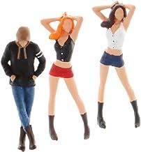 Hellery 3 stycken modell i skala 1/64 S välkomnande klassisk People Plastic Scenery Decor