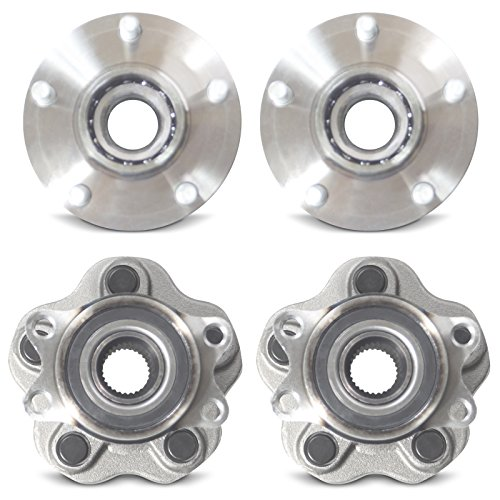 Tomegun 4 to 5 Lug Wheel Hubs Bearing Conversion Set of 4 (Front/Rear) for 95-99 Nissan 240SX S14