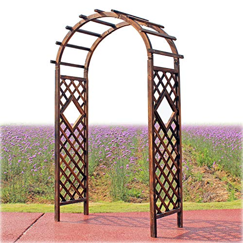 Solid Wood Garden Arbor Outdoor Arbour Trellis Archway, Plant Climbing Support, 6.9 Feet High x 3.9 Feet Wide, Weddings, Party Decoration,Pergola for Garden Backyard,Lawn